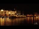 Ночные полеты над Невой - Аврора, Дворцовый мост, шпиль Петропавловского собора