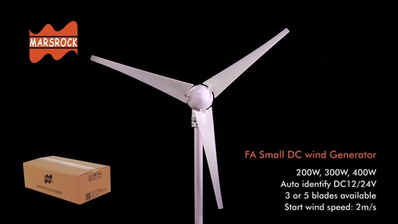12 В или 24VDC 3 лезвия 400 Вт ветровой турбины генератора со встроенным модуль выпрямителя, 2 м/с начать скорость ветра Турбины