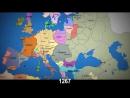 Дивіться як 877 років назад європейські кордони змінювалися