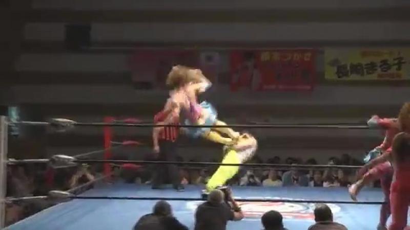 Arisa Nakajima, Tsukasa Fujimoto vs. Maruko Nagasaki, Mio Momono (Ice Ribbon - Yokohama Ribbon 2017 ~Autumn~)
