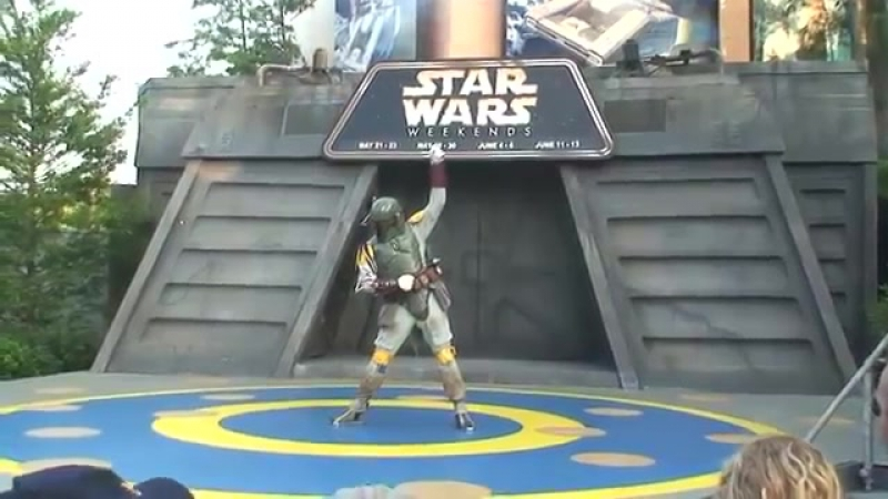 Boba Fett dances to Michael Jackson and Lady Gaga at Disney's Star Wars Weekends 2010