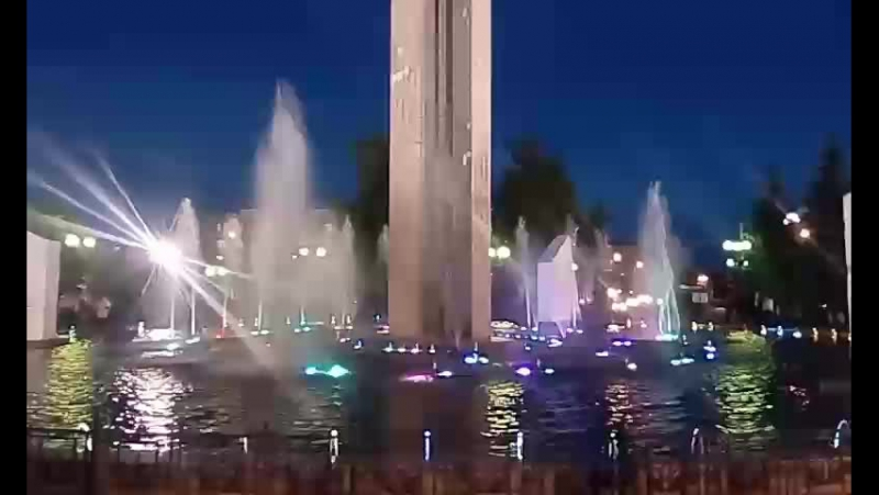 Калуга фонтан на Площади Победы.