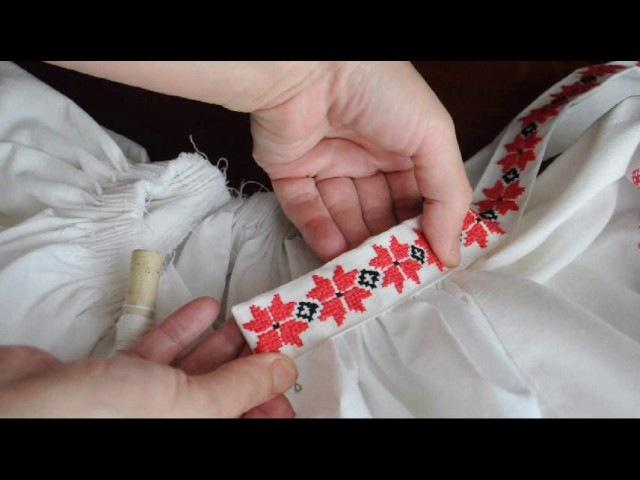 Народная рубаха из стилизованного платья