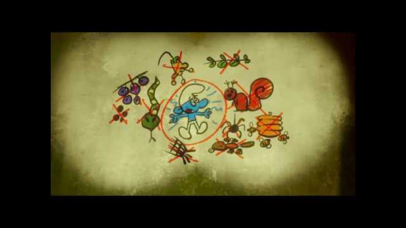 Смешные моменты из мультфильма Смурфики: Затерянная деревня Часть 1