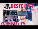 DESTEK V4 MOBILE VR HMD UNBOX REVIEW 103° FOV (w/Storage Bag)
