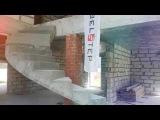 Изготовление безопорной лестницы в городе парков Заповедник, парке Ежевика.