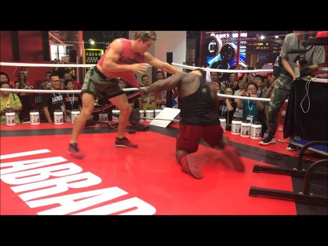 Bodybuilder takes on a UFC superstar Sage Northcutt
