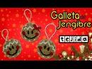 Galleta de jengibre tejida a crochet *broche, aplique o decoración navideña*