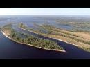 Самара Полет коптера над островом Поджабный Проран Нижний пляж 12 сентября 4K