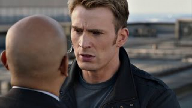 Капитан Америка и Чёрная Вдова допрашивают агента Г.И.Д.Р.Ы. Первый мститель: Дру ...