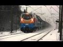 Первая поездка тепловоза ТЭ33А-0080 в Эстонии / GE TE33A-0080 returning from its first run