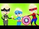 ЗАМОРОЖЕННАЯ ЭЛЬЗА и ВСЕ СУПЕРГЕРОИ! ЧЕЛОВЕК ПАУК, Капитан Америка, БЭТМЕН!