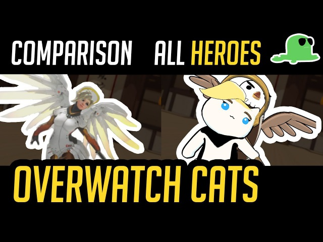 (Comparison) Overwatch but with Cats - ALL HEROES -