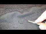 Женская раздевалка. Задние карманы на брюках.