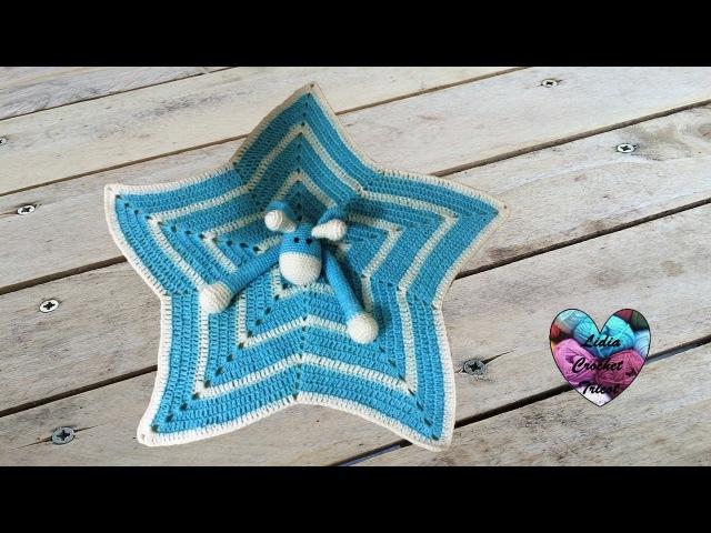 Doudou étoile girafe au crochet 2/2 / Mantita de apego jirafa tejida a crochet