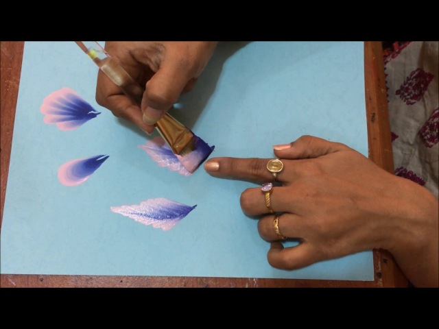 Acrylic Painting One Stroke Technique How to add variation to the strokes