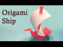How to Make a Paper Boat Origami, Sailing Boat / Ship Tutorial