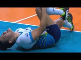 Gabriela Guimarães Volleyball Injuries   SESC RIO X HINODE BARUERI   BRAZIL SUPERLIGA 2017/2018
