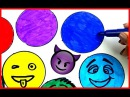 How to Draw Emojis with MaKShcooL*Rainbow COLORS*Video for kids