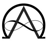 Логотип Альфа и Омега - центр развития личности