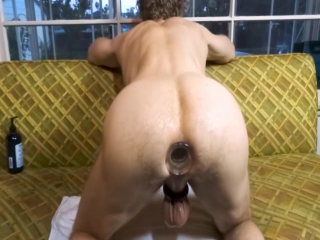 003 Blond woman huge tits stretches GapeGatsbys asshole with a glass plug_1080p