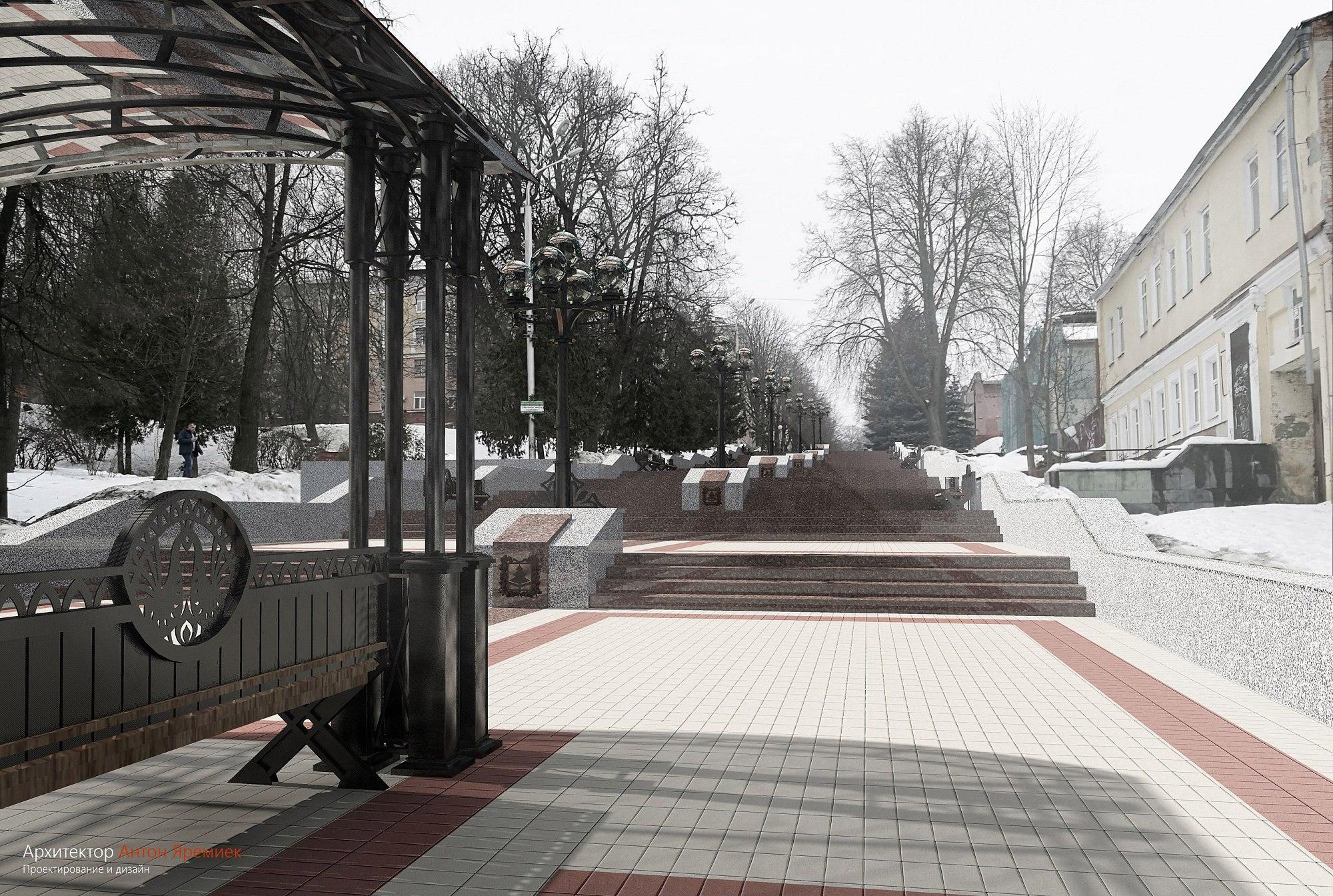 Брянцы выбрали проект реконструкции лестницы набульваре Гагарина
