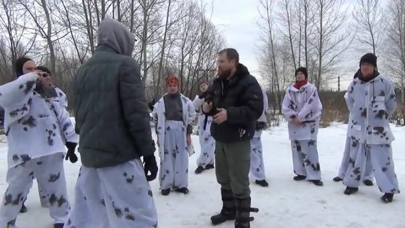 Открытый семинар основателя школы Русская Сеча в школе Казачьего Ножевого Боя 7 марта 2015 года