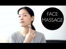 Facial Lymphatic Drainage Massage Using Jade Roller