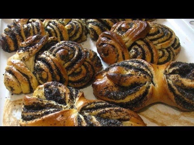 Солнечные булочки с маком, дрожжевое тесто.