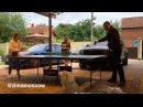 Ксения Бородина ловко обыгрывает своего мужа, Курбана Омарова, в настольный теннис