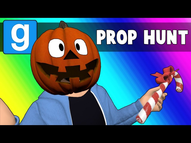 Gmod Prop Hunt Funny Moments - Christmas or Halloween 2018? (Garry's Mod)