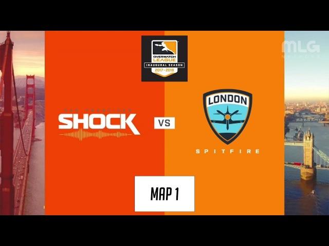 San Francisco Shock vs London Spitfire (Map 1: Dorado) | Inaugural Preseason
