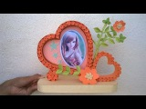 How to make Heart Shaped Photo frame DIY Paper Quilling photo frame