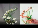 Paper Quilling Art Beautiful Flowers Arranging with Coffee Cup Showpiece for Room Decoration