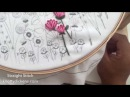 Straight Stitch for Leaves and Stems Hand Embroidery Tutorial