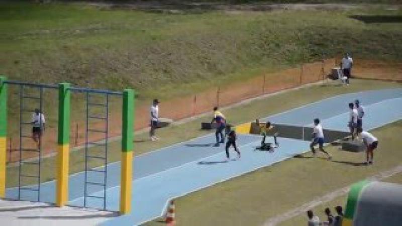 Полоса препятствий для военного пятиборья в Бразильской армии