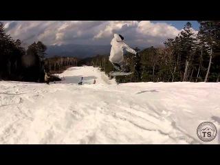 Buttering snowboard. Flat snowboard