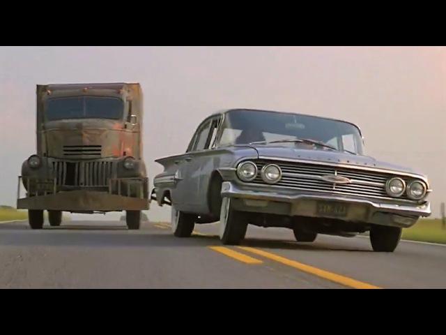 '41 Chevy truck terrorizes '60 Chevy Impala