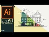 Creating a Line art city landscape in Adobe Illustrator