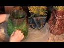О пластичности изделий из газетных трубочек Мятая ваза Часть 1