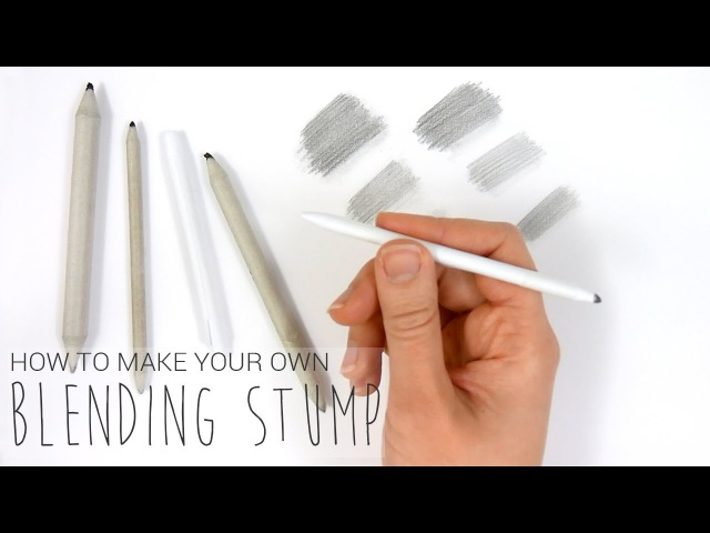 How to make your own blending stump to blendsmudge the graphite | Emmy Kalia