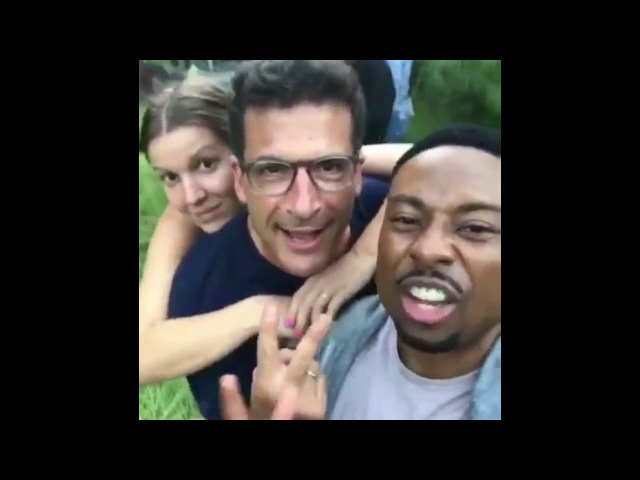Justin Hires- Behind the scenes on set filming with 'MacGyver' cast Pt.3 @JustinHires