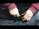 Защита радиатора на Hyundai Santa Fe. Устанавливаем сетку, крепим изнутри в бампер