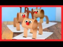 3D REINDEER CRAFT - fun Christmas paper craft for kids