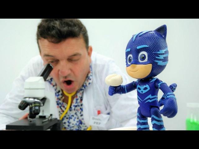 GATUNO de los PJ Masks español💊 ¡DOCTOR Pep 🚑 Vídeos de juguetes para niños