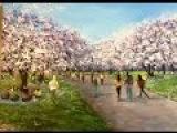 Сакура Фестиваль - Цветение Вишни  Акрилом. Sakura in Acrylic Hanami