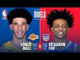 Rookie Point Guards Lonzo Ball and De'Aaron Fox Duel in Sacramento | November 22, 2017