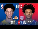 Rookie Point Guards Lonzo Ball and De'Aaron Fox Duel in Sacramento   November 22, 2017 #NBANews #NBA #Lakers #Kings #LonzoBall