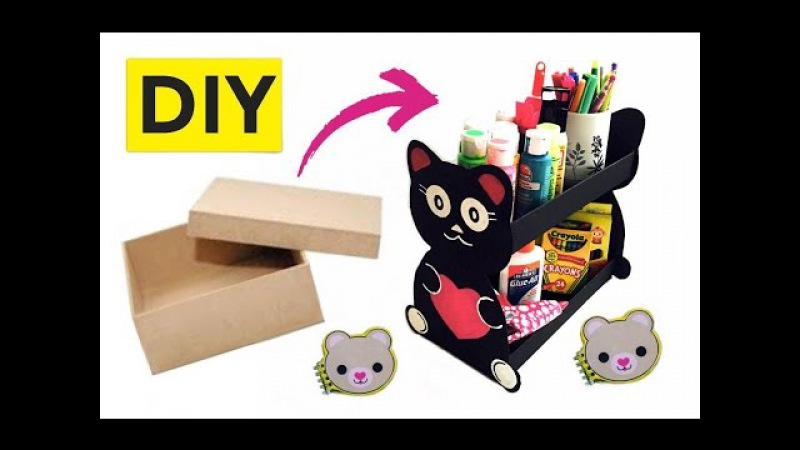 Organizador hecho con caja de zapato 2 ideas DIY