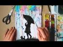 Как Нарисовать Летний Дождь Трубочкой/ Урок Рисования для Детей с Фото/ Поэтапно